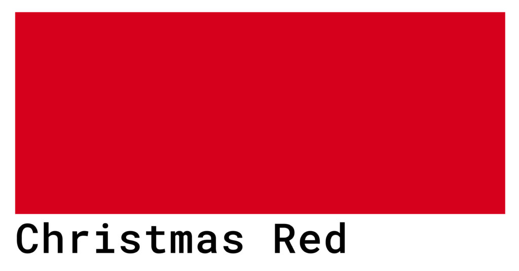 christmas red color code