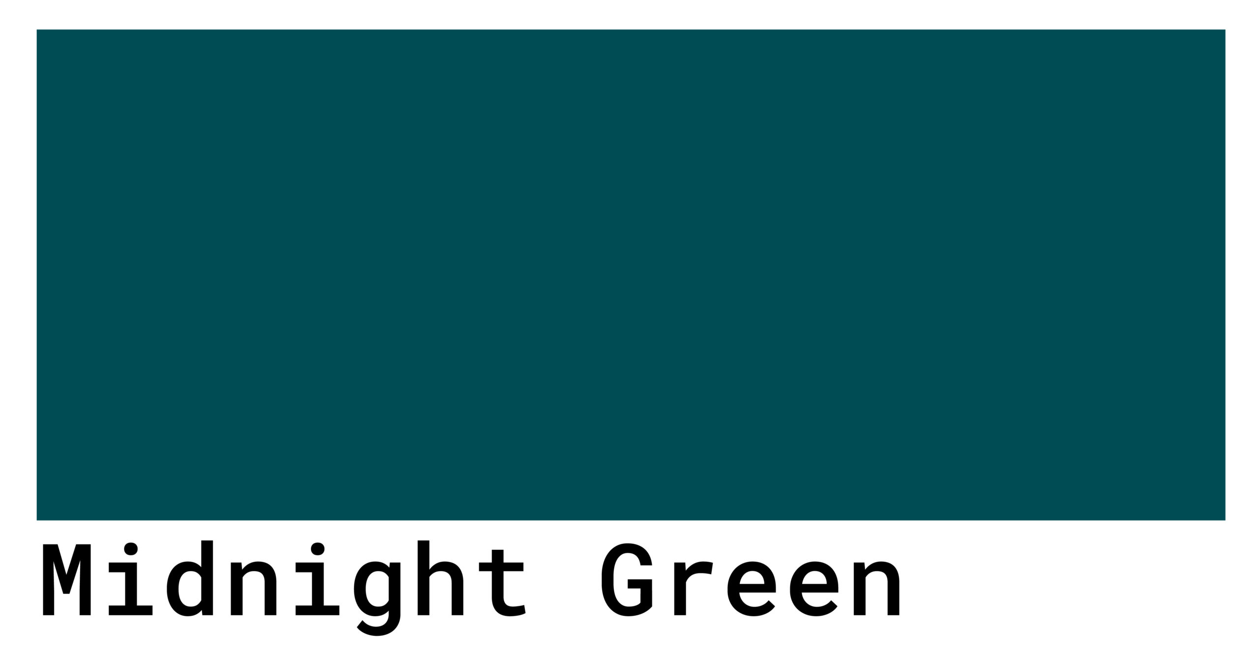 midnight green color code