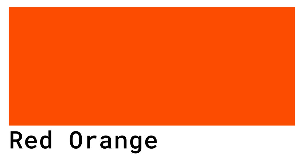 red orange color code