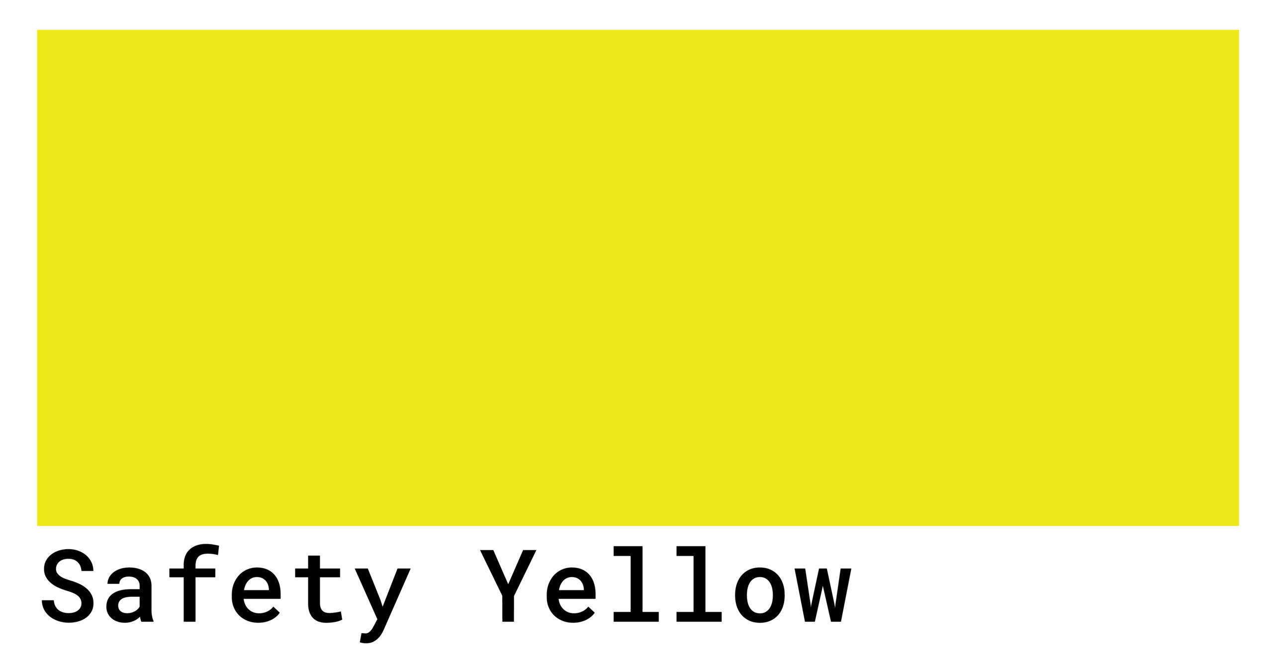 safety yellow color code
