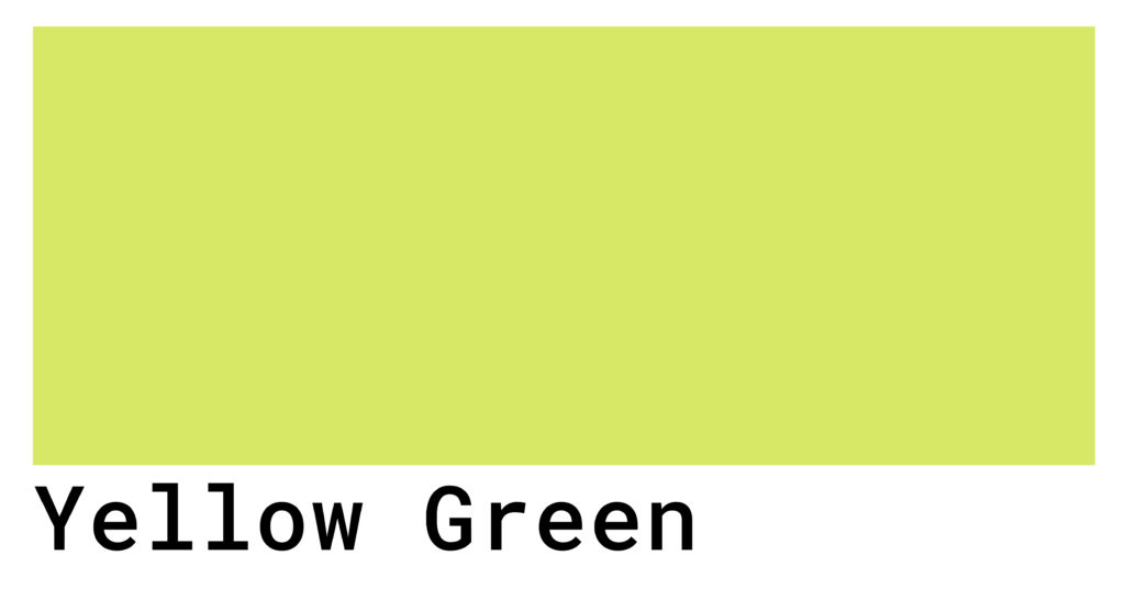 yellow green color swatch