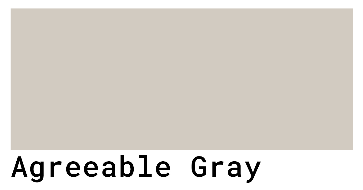 agreeable gray color code