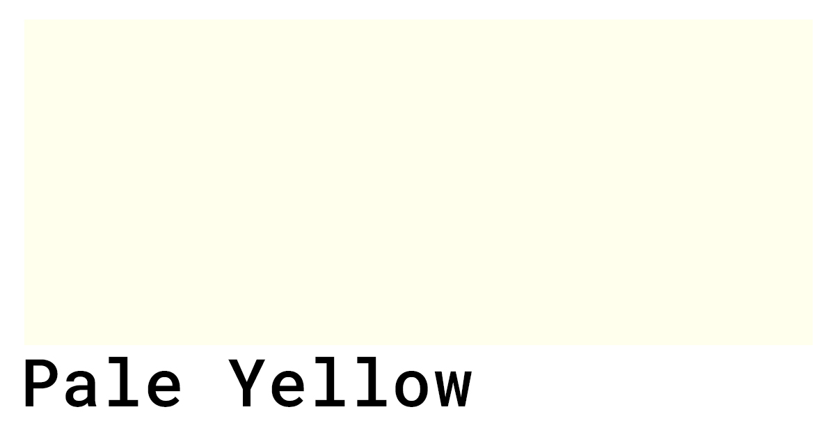 pale yellow swatch
