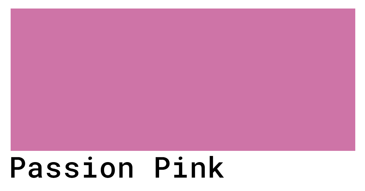 passion pink hex