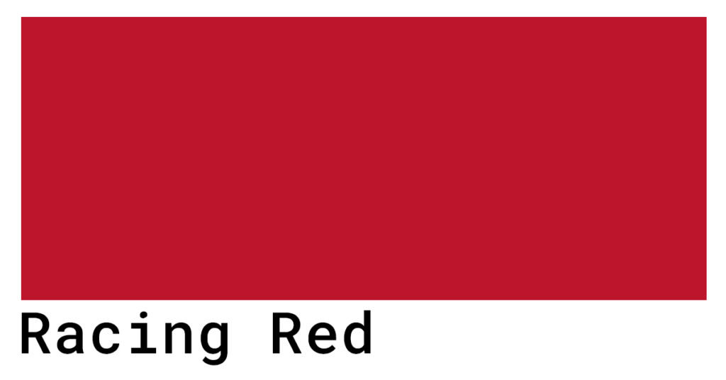 racing red color codes