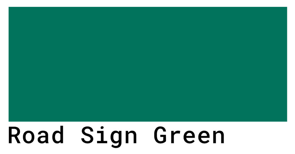 road sign green