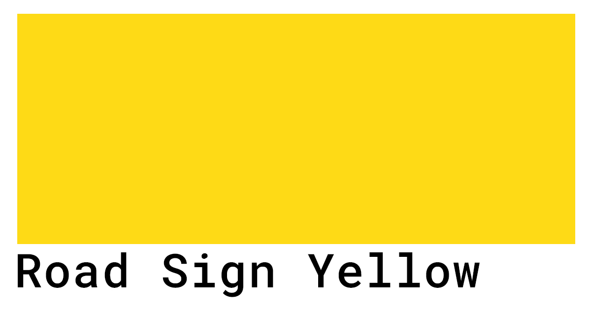 Road sign yellow