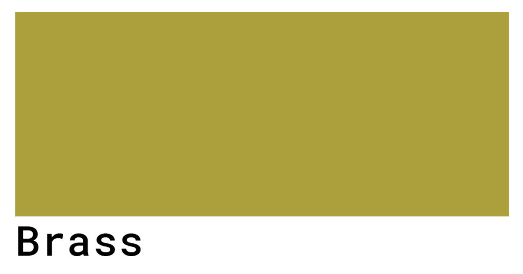 brass color swatch hex codes