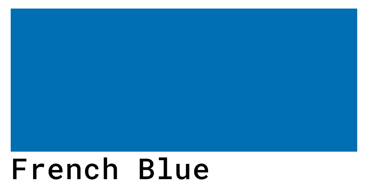 french blue color swatch hex codes