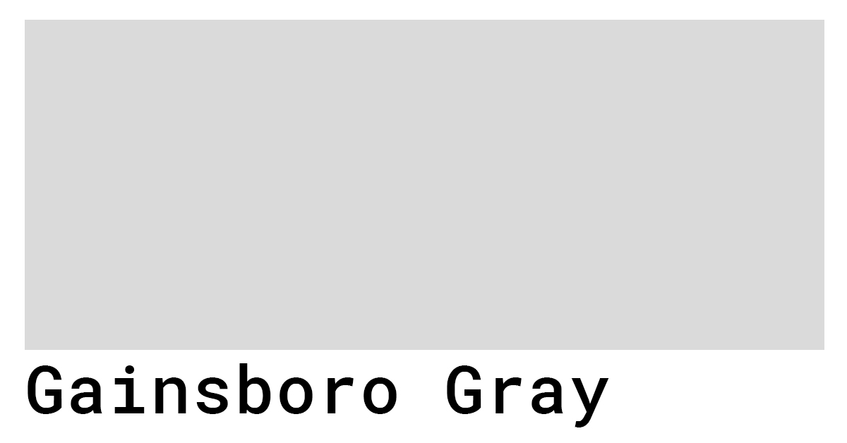 gainsboro gray hex swatch color code